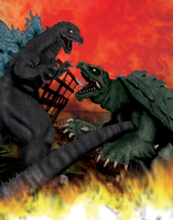 Godzilla Vs. Gamera by tlmolly86