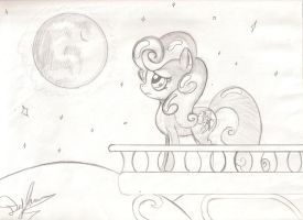Above her Courtyard (Raw cover sketch) by I-TwistedFury-I