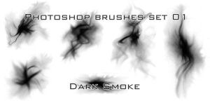 Photoshop Brushes - Dark Smoke by EL80