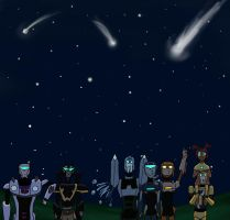 commition- shooting stars by star-bot381