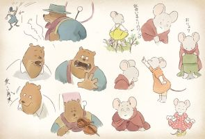 Facial Practice [Ernest and Celestine] by norijaga