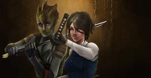 Madame Vastra and Jenny Flint by Striped-Stocking