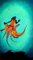 Orange Octopus Woman by n8p