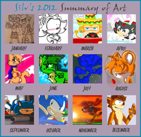 Art Summary of 2012 by SilverSonic44