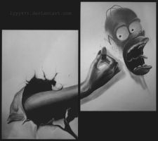 Homer Simpson drawing by lyyy971
