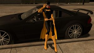 Batgirl Car pose by xSakuyaChan510x