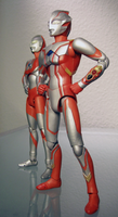 Ultraman and Mebius UltraAct by 070trigger