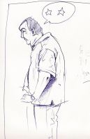 ballpoint sketch dude by davechisholm