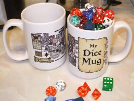 "Dungeon Map ""My Dice"" Mug by billiambabble"