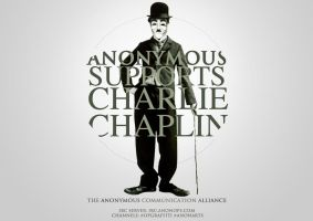 Charlie Chaplin Revisited - Anon Com Alliance by OpGraffiti