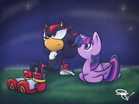 Shadow and Twilight - Looking at the Night Sky by FerrumFlos1st