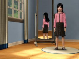 Sims 3 - Me in child form in formal outfit 2 by Magic-Kristina-KW