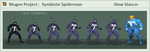 Mugen Project - Symbiote Spiderman - New Stances by necromanolo