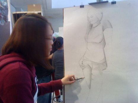 Figure Drawing - Beate by chips-a-hoii