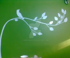 Bird (wall mural) by chauhan03