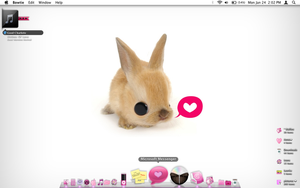cute bunny mac desktop by tunerbarbie