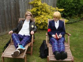 Hetalia Academy - England and America by EmailinasBrother