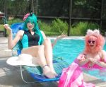 Fluffle Puff and Chryssi Pool Time by AngelSamui