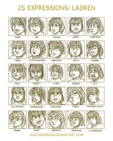 25 Expressions - Lauren by alex-heberling
