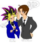 Yugi and Tsuzuki by julewooster