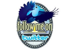 twitter 'Follow Me' T-Shirt by WinfrithGraphics