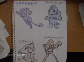 pokemon colour drawings by BlooDaBeast