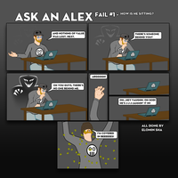 Ask An Alex Live Comic Fail #1 by Judan