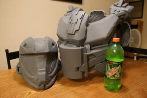 Halo Mountain Dew Spartan build by Hyperballistik
