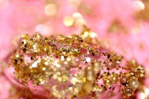 Gold pink glitter by beatqas