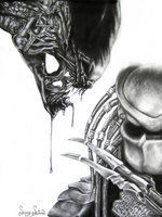 My Alien Vs. Your Predator by SummerSucculence