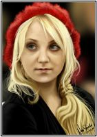 Evanna Lynch Digital Painting by NinaStrieder