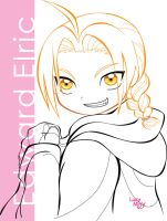 Ed Elric_lineart_eyes by LucyMeryChan