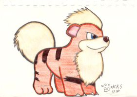 No. 58 - Growlithe by Yoshistar-Baxter
