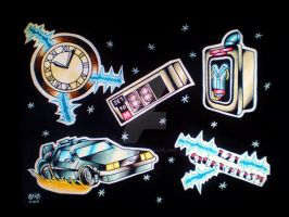 Back To The Future Tat Flash by Vicki-Death