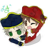 Cosplaying Prussia and Spain by LilyKilpatrickART