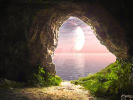 Pink Cave Pre-Made Background Stock by SydsAnchorlessStudio