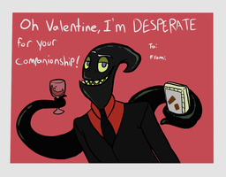 Valentines Card- Nergal by Toxicmongoose