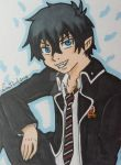 Rin Okumura ACEO card by LadyNin-Chan