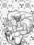 Parasite no. 1 -cover black and white by AaronKuder