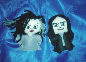 Bella and Snape Plushies by drianis