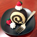 Chocolatey Cake Roll Plushie by HezaChan