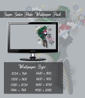 Super Sailor Pluto Wallpaper Pack by Sigma-Astra