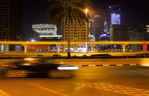 Sheikh Zayed road at night  new edition 6 by amirajuli