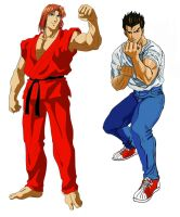 Ryu And Ken street fighter II V by myroboto