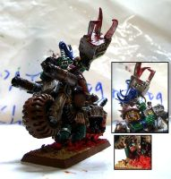 Ork Warbike and Officer by Snowfyre