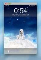 Lockscreen Snow 3.0 by Plizzo