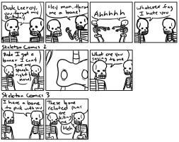SKELETON COMICS by Sean825