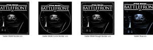 Star Wars Battlefront Vader Icons JPG+ICO [x4] by Rhyz66
