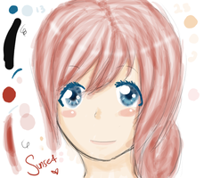 Serah doodle by sunset-blue