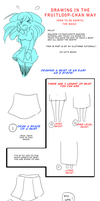 How to draw skirts by Fruitloop-chan